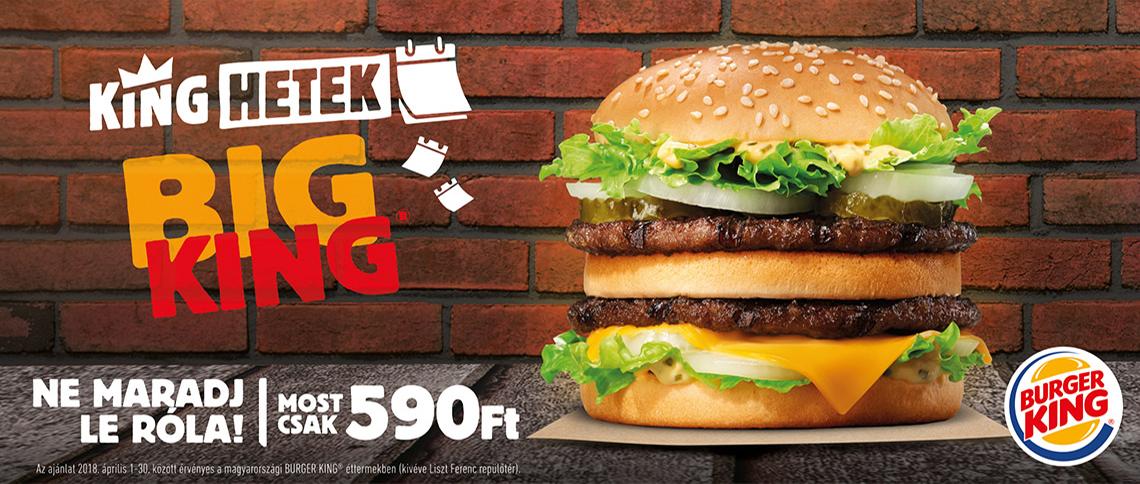 Király ajánlat a Burger Kingben!