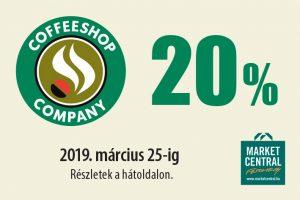 15% kedvezmény a CoffeeShop Company-ben!