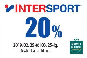 20% kedvezmény az Intersparban!