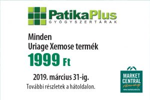 1999 Ft kedvezmény a Patika Plusban!