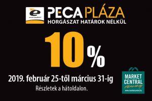 10% kedvezmény a PecaPlázában!