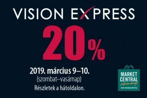 20% kedvezmény a Vision Expressben!