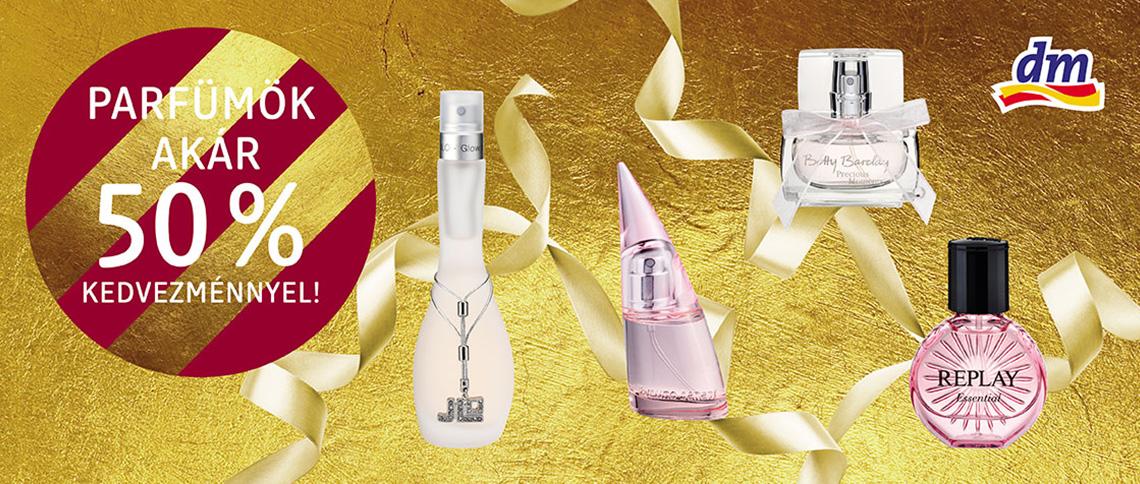 Akár 50%-os parfümakció a dm-ben!