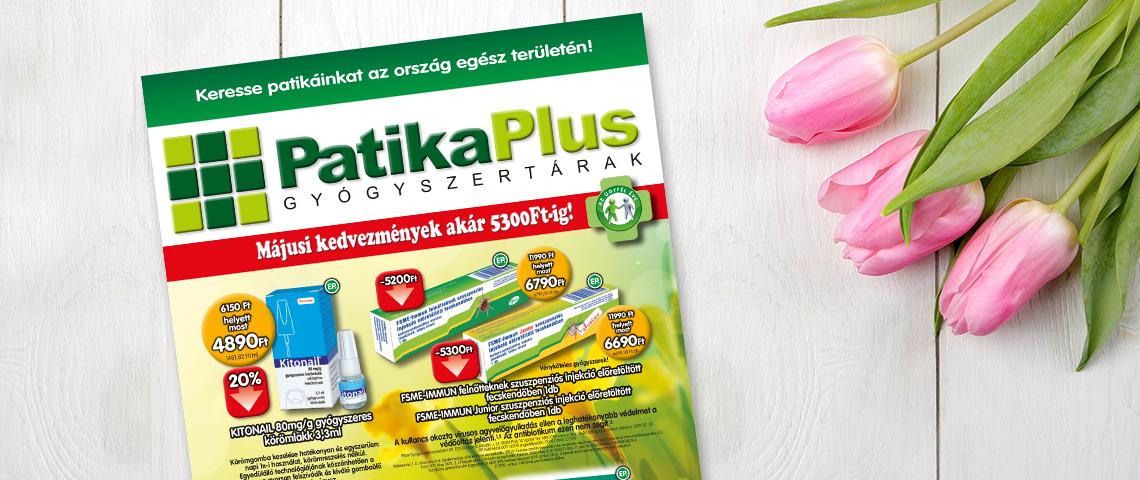 Májusi akciók a PatikaPlus gyógyszertárban!