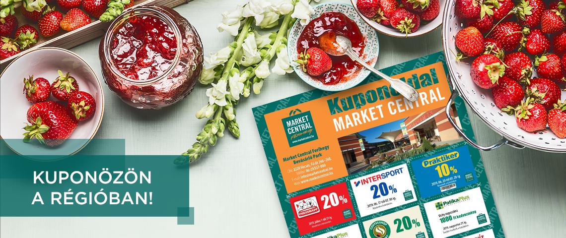 Nyári Market Central kuponok a Régió újságban!