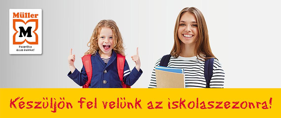 Készülj az iskolakezdésre a Müller üzletünkben!