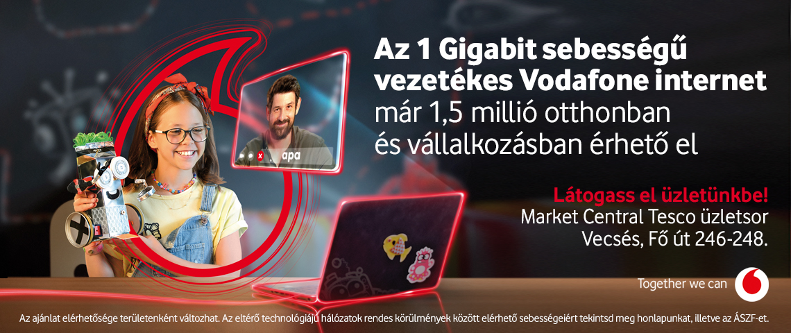 Vodafone ➤ 1 Gigabit sebességű otthoni internet