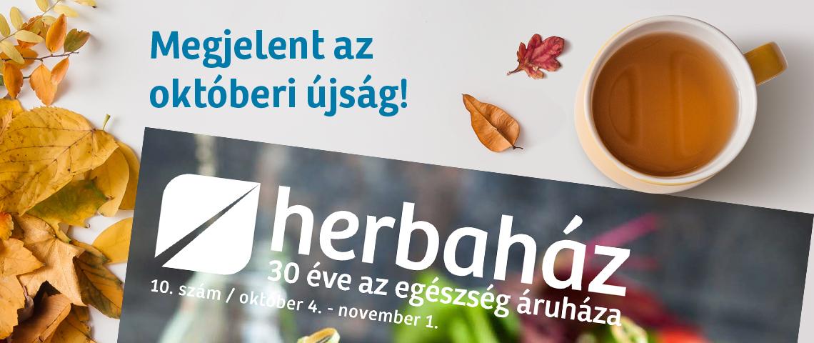 HERBAHÁZ ➤ Októberi újság 4 vegán oldallal!